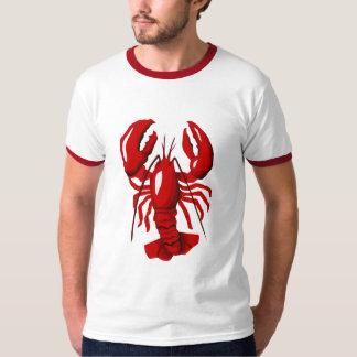 Camiseta para hombre del campanero de la langosta playera