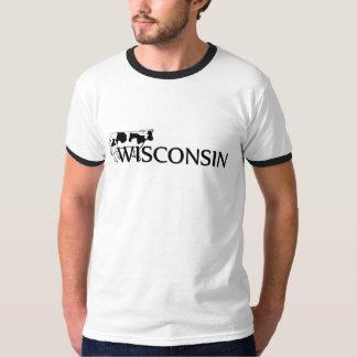 Camiseta para hombre del campanero de la vaca polera