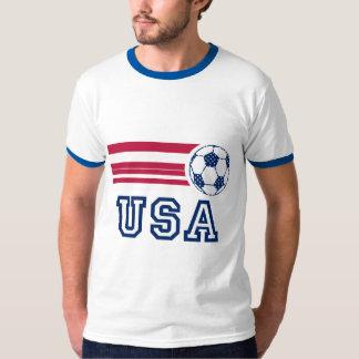 Camiseta para hombre del campanero del fútbol de playera
