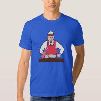 Camiseta para hombre del carnicero poleras