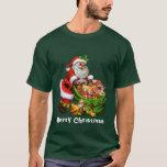 Camiseta para hombre del día de fiesta de Santa