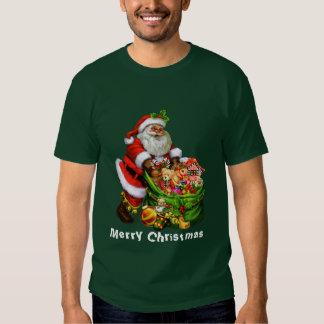 Camiseta para hombre del día de fiesta de Santa de Playera