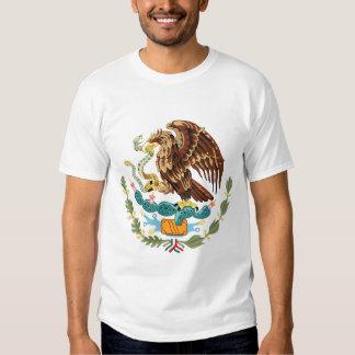 Camiseta para hombre del escudo de armas de México Remeras