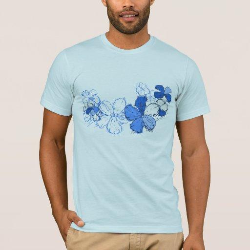 Camiseta para hombre del hibisco del Doodle