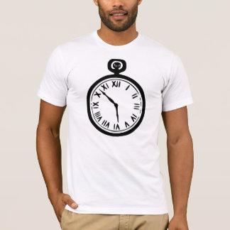 Camiseta para hombre del reloj de bolsillo
