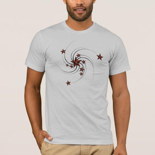 Camiseta para hombre del remolino de las estrellas