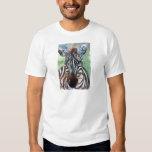 Camiseta para hombre del retrato ACEO de la cebra Playeras