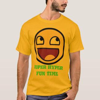 Camiseta para hombre del tiempo híper estupendo de
