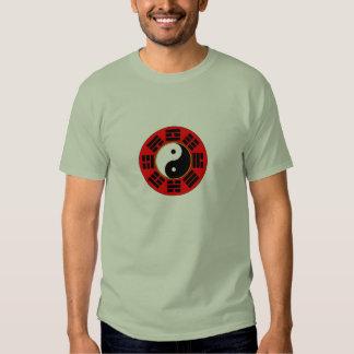 Camiseta para hombre del trigram de Bagua Camisas