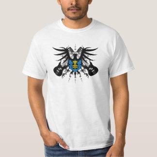 Camiseta para hombre del valor del escudo de armas
