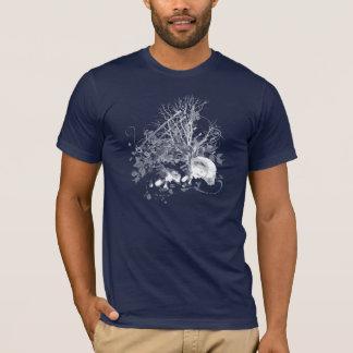 Camiseta para hombre gráfica del cráneo de los