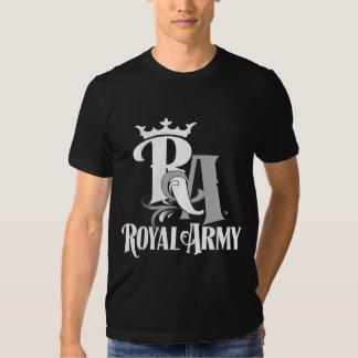 Camiseta para hombre oscura del emblema real del playera
