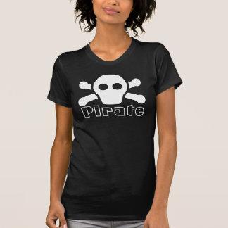 Camiseta para las mujeres - camisa negra del