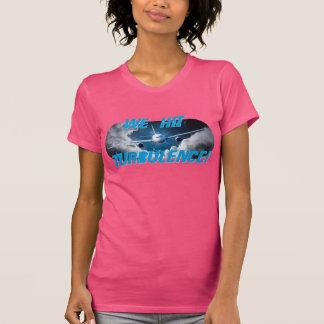 Camiseta para mujer básica de la turbulencia de