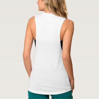 Camiseta para mujer de encargo de las camisetas playera de tirantes anchos
