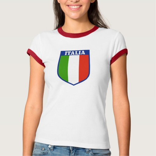 Camiseta para mujer de la bandera italiana polera