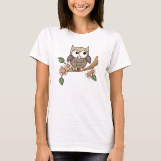 Camiseta para mujer de la diversión del búho del