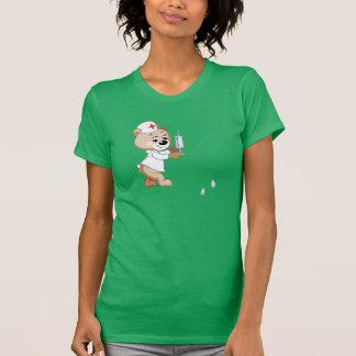 Camiseta para mujer de la enfermera del oso de