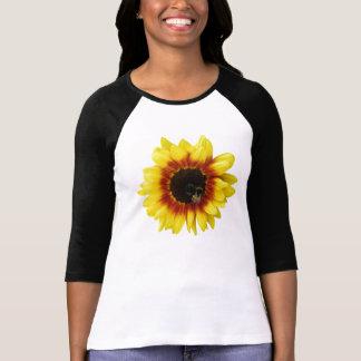 camiseta para mujer de la flor híbrida de destello