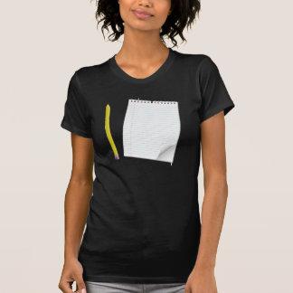Camiseta para mujer de la libreta y del lápiz