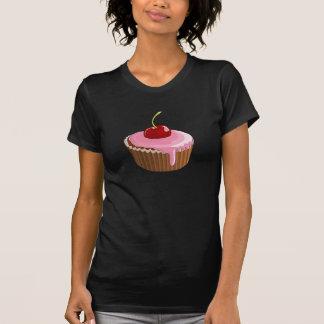 Camiseta para mujer de la magdalena de la cereza playera