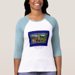 Camiseta para mujer de la manga de raglán de la ca