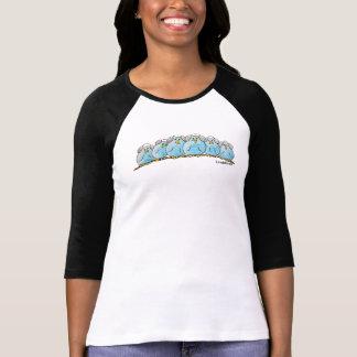 Camiseta para mujer de la manga del raglán 3/4 de playera