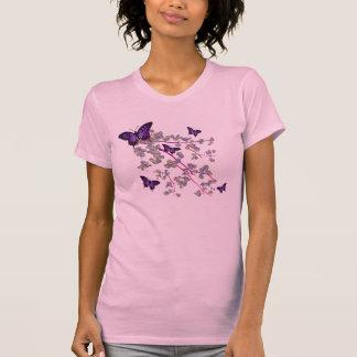 Camiseta para mujer de la mariposa playeras