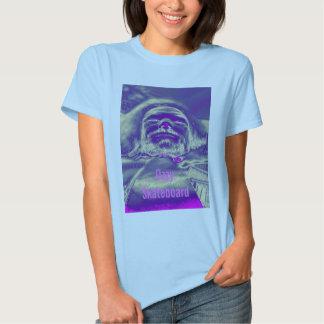 Camiseta para mujer de la muñeca del monopatín remera