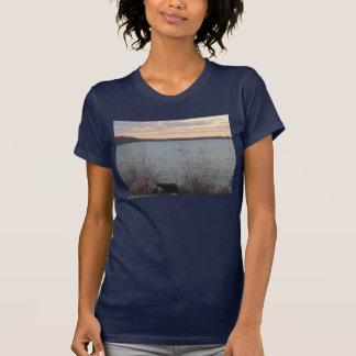 Camiseta para mujer de la puesta del sol de la ori
