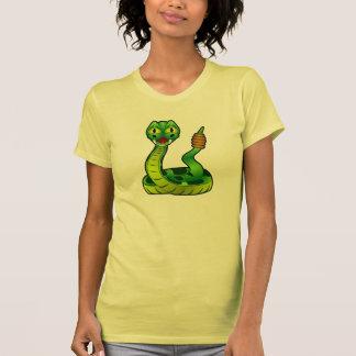 Camiseta para mujer de la serpiente de cascabel ve