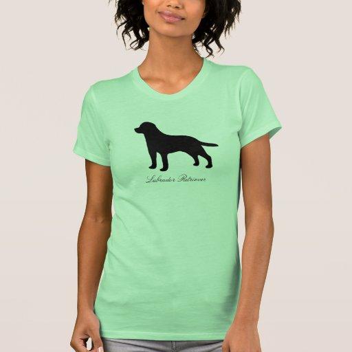 Camiseta para mujer de la silueta del perro del