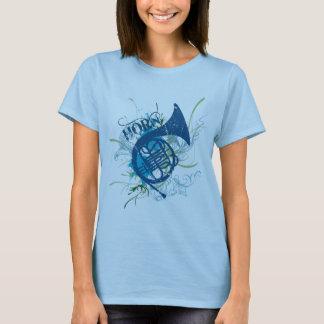 Camiseta para mujer de la trompa del Grunge