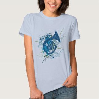 Camiseta para mujer de la trompa del Grunge Playera
