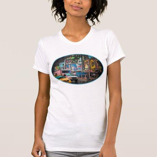 Camiseta para mujer de Lite de las carteleras del Playera