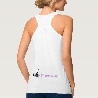 Camiseta para mujer de los amantes lindos del gato playera de tirantes cruzados holgada