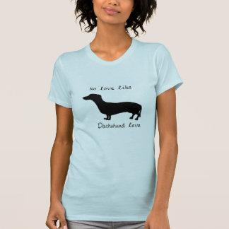 Camiseta para mujer del amor del perro de patas