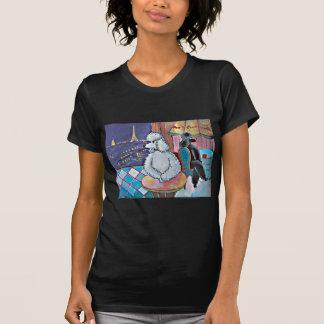 Camiseta para mujer del arte de los caniches del