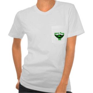 Camiseta para mujer del bolsillo del parque BMX de