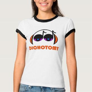 Camiseta para mujer del campanero de la dicotomía playeras