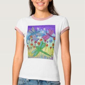 Camiseta para mujer del campanero - libélulas playeras