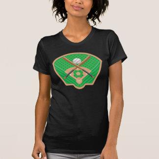 Camiseta para mujer del campo de béisbol