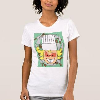 Camiseta para mujer del cocinero enojado