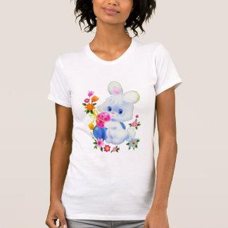 Camiseta para mujer del conejito de pascua poleras