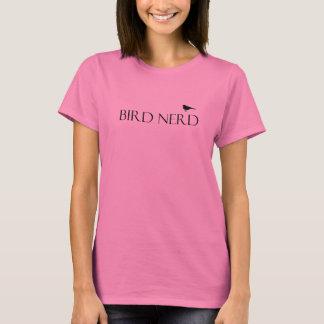 Camiseta para mujer del empollón del pájaro