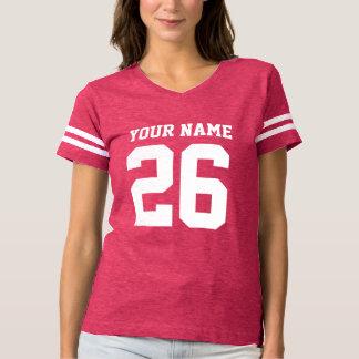 Camiseta para mujer del fútbol del jersey del rosa