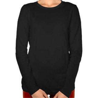 Camiseta para mujer del gato de los amantes de la camisas