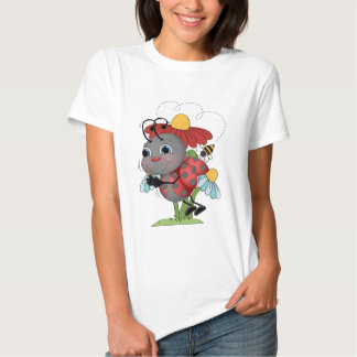 Camiseta para mujer del insecto de la mariquita polera