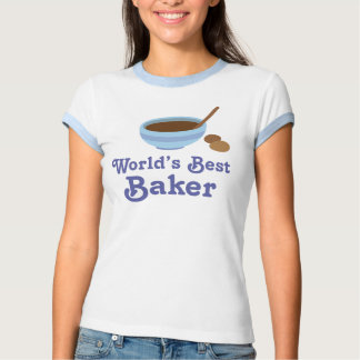 Camiseta para mujer del mejor panadero del mundo remeras