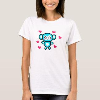 Camiseta para mujer del mono de Kawaii